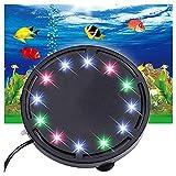 MSQL LED Beleuchtung LED Aquarium Licht, Aquarium Licht Runde Blase Licht, Gartenteich Licht, wasserdicht bunt, für Pool Garden Yard