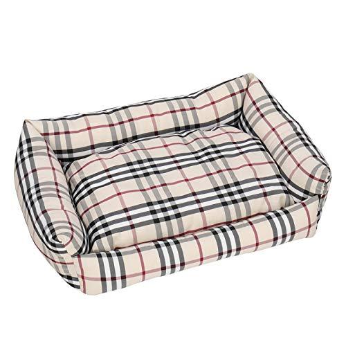 Winne Colchón de seda suave lavable de gran tamaño del algodón de la cama del perro para el coche y el caqui de la jaula del perro