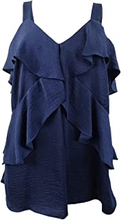 Womens Layered Tier Top Color True Navy