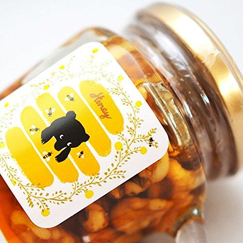 クマのハニーナッツ【クルミ】 120g 国産蜂蜜にたっぷりとクルミを付け込みました。ナッツのはちみつ漬け (ギフト・自家用) はちみつ 国産