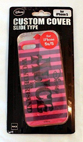 Disney カスタムカバー iphone5s/5  アリス (アリス ロゴ D)