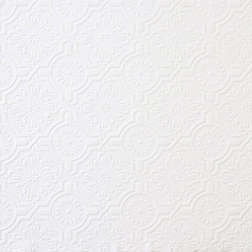 Brewster 148-32817 Paintable Solutions III Victorian Tin Ceiling Paintable Wallpaper