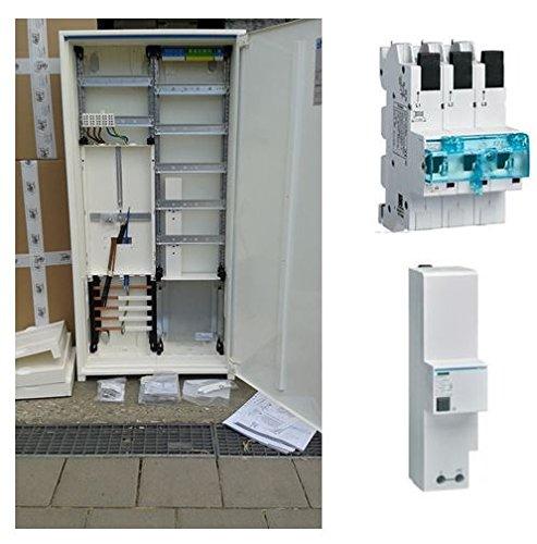 TM: Hager Zählerschrank 1 Zähler 3.HZ verdrahtet mit APZ-Verteilerfeld/ZB323T15 + 1 Hager SLS 35A + 1x SPA301Z Überspannungsschutz, für das Einfamilienhaus