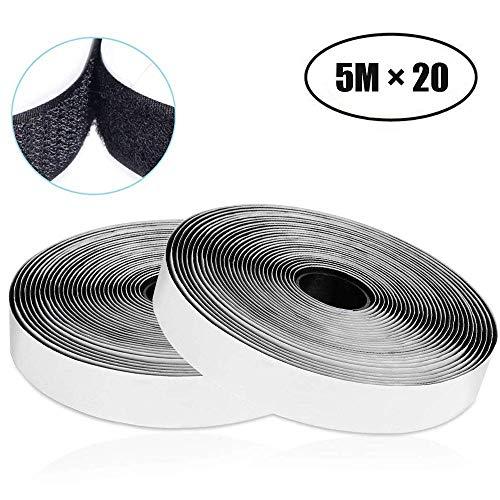 VELCRO/® negro Cinta ONE-WRAP/® a doble cara en color negro de 1/cm de ancho 1 m