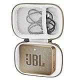 Khanka Tasche Hülle Schutzhülle Für JBL GO 2 GO2 kleine Musikbox portabler Bluetooth-Lautsprecher. (Champagner-Reißverschluss)
