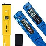 Monzana Set para medir la Calidad del Agua Medidor de PH Probador de Agua 2en1 y 3en1 Bolso y Baterías