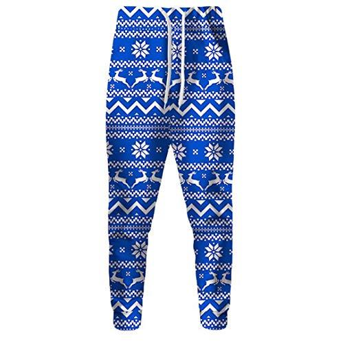 Christmas Sweatpants 3D Full Print Snowflake Jogger Pants Winter Trousers Multi S