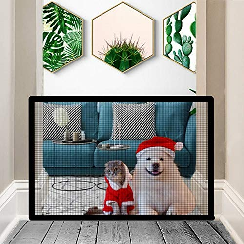 Nifogo Magic Gate Schutzgitter Haustiere, Hund Safe Guard, Portable Folding Safe, Faltbar Kunststoff Hund Safe Guard Trennwand installieren überall 110x72CM