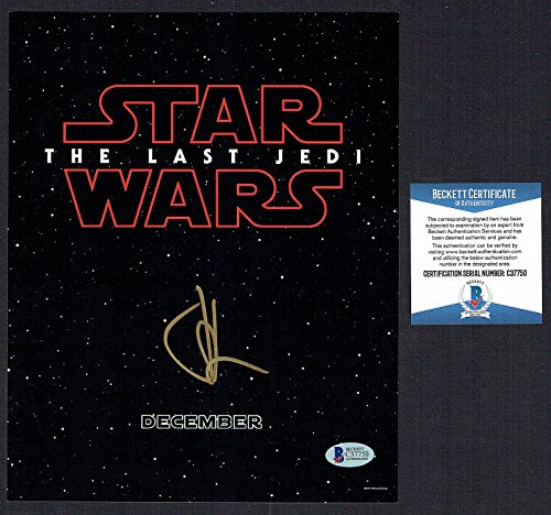 Jeffrey J.J. Abrams signed autograph auto 8x10 photo THE LAST JEDI Star Wars BAS