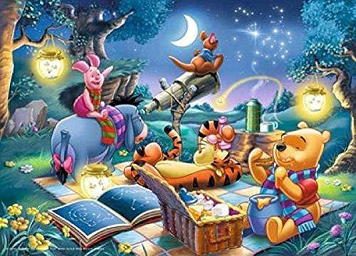Generic 1000 Pezzi Jigsaw in Legno Puzzle Decorazione murale con Paesaggio di Winnie The Pooh Adulti Regalo Perfetto Difficile e Sfida