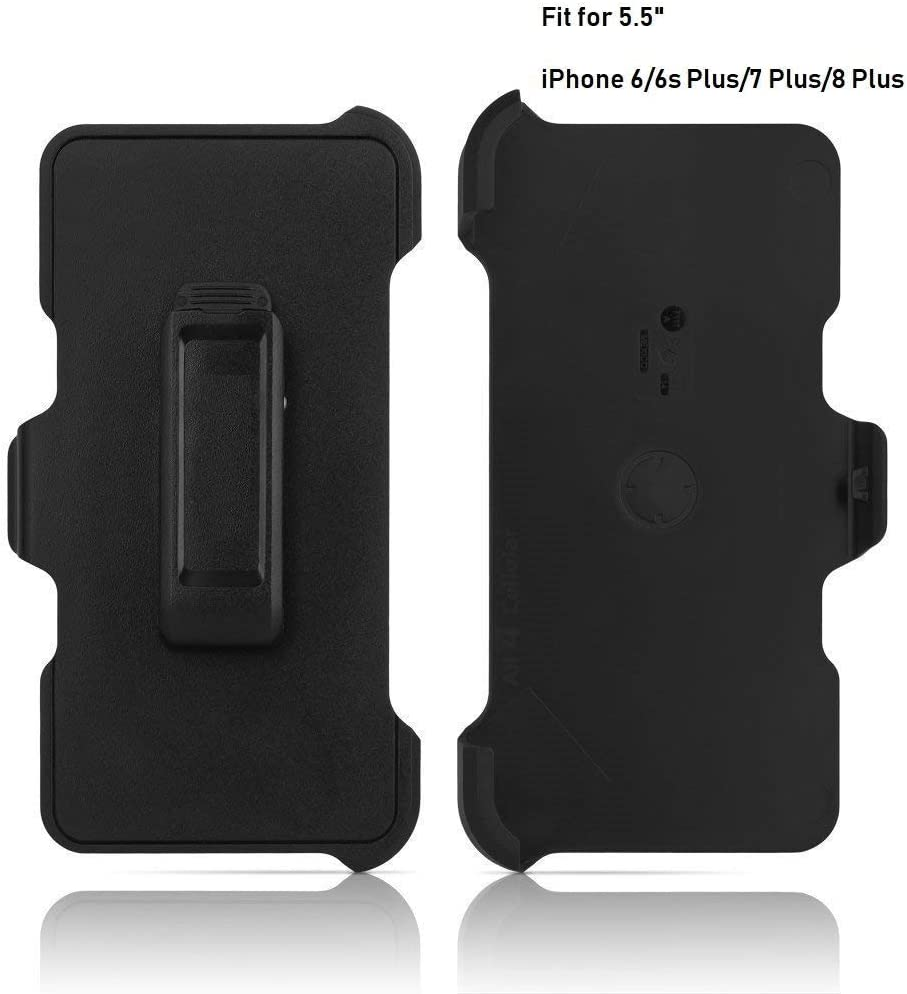 2 Pack Replacement Holster Belt Clip for Apple iPhone 6 Plus/6S Plus/7 Plus/8 Plus Otterbox Defender Case(Only 5.5
