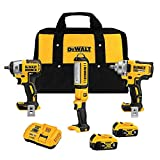DeWALT DCK302P2 20V MAX XR Brushless Cordless Automotive 3 Tool Combo Kit