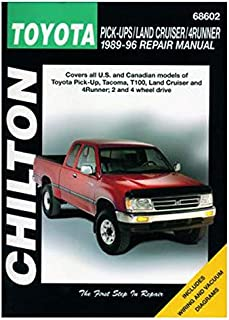 Chilton Toyota Trucks/Land Cruiser/4Runner 1989-1996 Repair Manual (68602)