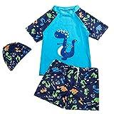 YAGATA Baby Junge Badeanzug, Zweiteilig Bademode mit Dinosaurier-Motiv, Surfen Taucheranzug mit...