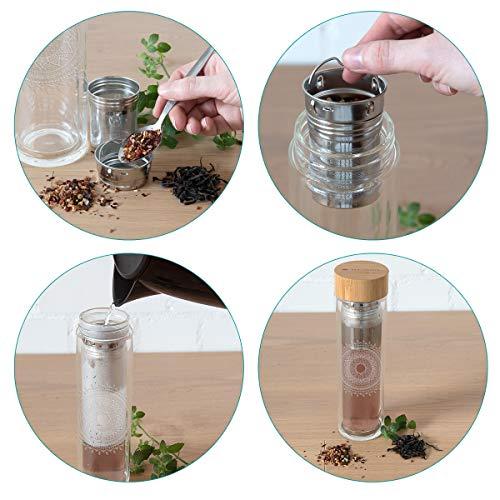 Teeflasche ToGo aus Glas - 3