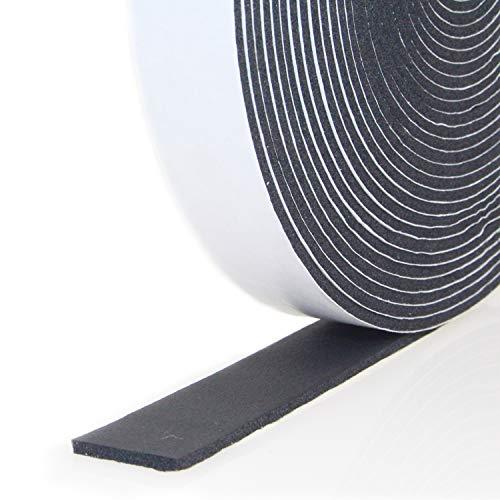 Dichtungsband Selbstklebend, Schaumstoff Dichtungsband 25mm(B) x3mm(D), Moosgummi selbstklebend für Tür Fenster, türdichtung, wetterfest, Anti-Kollision, Schalldämmung,...
