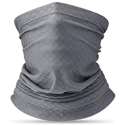 HASAGEI slangsjaal heren dames bandana UV-bescherming loopsjaal buisvormige sjaal nekwarmer motorfiets sjaal mondmasker veelzijdig elastisch voor hardlopen fietsen klimmen motorrijden outdoor grijs