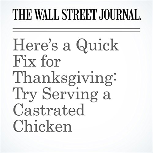 Here's a Quick Fix for Thanksgiving: Try Serving a Castrated Chicken copertina