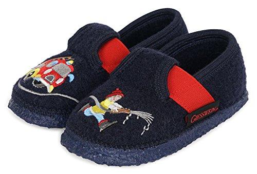GIESSWEIN Kinderhausschuh Trulben - warme Jungen Hausschuhe | leichte Slippers aus Wollfilz | Flexible Weite | rutschfeste Latex Sohle | Filz Pantoffeln