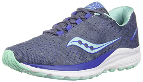 Saucony Women Jazz 20 Neutral Running Shoe Running Shoes Grey - Light Blue 7