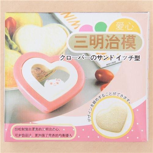 Kawaii Cortador de sandwich en forma de corazón molde...