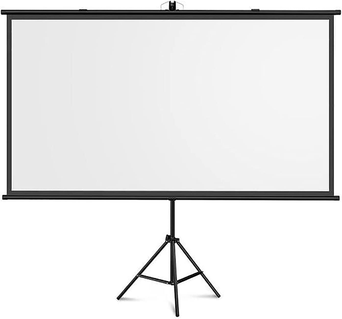 YFF-Corrimano Projector Screen with Stand - Indoor and Outdoor Projection Screen - 4:3/16:9 HD Wrinkle-Free Tripod Screen Portable Lightweight Projector Screen, for Movie or Office Presentation