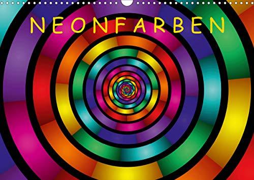 Neonfarben (Wandkalender 2021 DIN A3 quer)