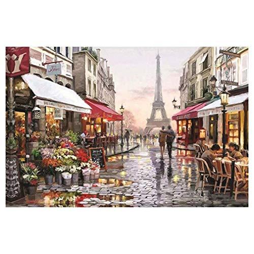 FOY Puzzle de papel con diseño de París Flower Street de 1000 piezas