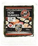 ITA-SAN Seetang, geröstet, für Sushi, ganzes 50 Blatt, nori silber, 1er Pack (1 x 125 g)