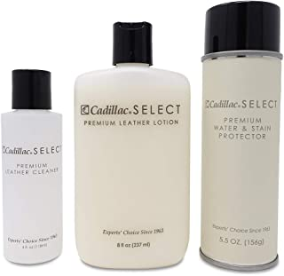 Select Premium Leather Care Kit - Leather Cleaner, Lotion Conditioner & Water & Stain Protector