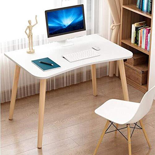 JINHH Tische Computer Schreibtisch Buche Beine Studie, stabile Schreibtische, großer Spieleschreibtisch, einfache Montage, Home Office (Farbe: Weiß)