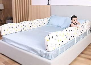 Bed Rail YZY Parachoques de riel de Cama for niños pequeños Almohada de Parachoques de Cama Infantil Funda de algodón Aumentar Espesar Desmontable Lavable Libremente Flexible