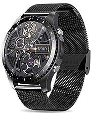 Smart Watch met oproep,Gezondheid en Fitness Smartwatch met hartslag bloeddruk SpO2 Monitor Sleep Tracker, Muziekbesturing, Waterdicht Smart Horloge voor Android iOS Telefoon