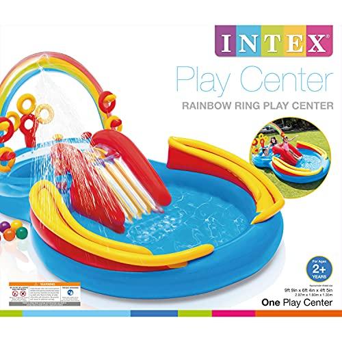 INTEX(インテックス)レインボーリングプレーセンター297×193×135cm57453[日本正規品]ME-7019