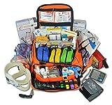 Lightning X Premium Stocked Modular EMS/EMT Trauma First Aid Responder Medical Bag + Kit - Fluorescent Orange