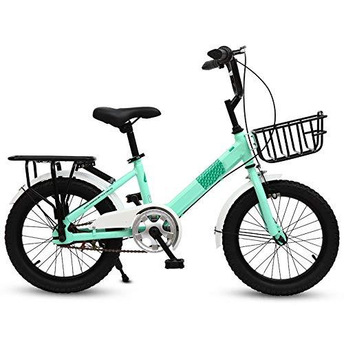 Kinderfahrräder HAIZHEN Kinderwagen Freestyle, 6-18-20 Zoll-Räder 3 Farben für Jungen und Mädchen Leichtgewicht Für Neugeborene (Farbe : Green, größe : 16 inch)