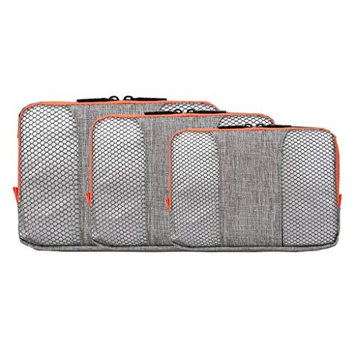 Trois pièces Sac cosmétique de Stockage étanche Grande capacité extérieure Multifonction Portable Simple Voyage Wash Wash Universal 4 Couleur MUMUJIN (Color : Gray)