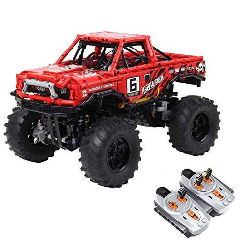 KEEPH Technik 4x4 Geländewagen Ferngesteuert 1:10 Bausteine Off-Roader Geländewagen Spielzeug mit 3 Motoren, 1760 Teile