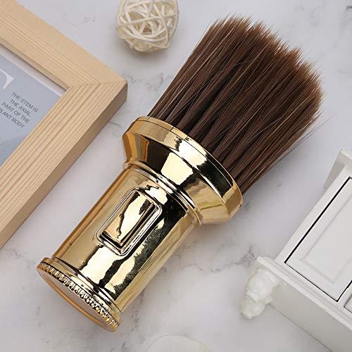 Hair Sweep Hair Cleaning, Brosse de nettoyage, Neck Duster Beard Shaving Brush Hair Cutting Beard Shaving(Golden)
