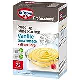 Dr. Oetker Professional Pudding ohne Kochen mit Vanille-Geschmack, Cremepulver in 1 kg Packung
