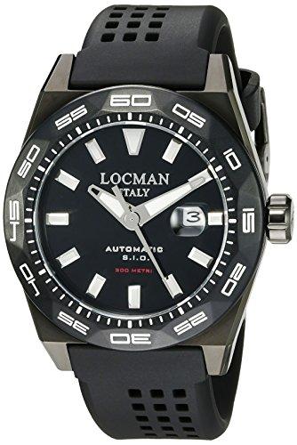 Locman Italy Reloj para Hombre 0215V4-KKCKNKS2K Stealth 300 Metri con Pantalla analógica automática, Color Negro