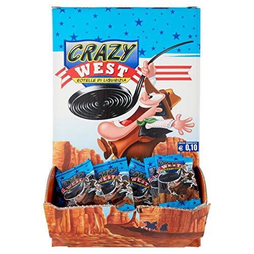Gelco Maxi Crazy West Caramelle Gommose alla Liquirizia, 200 Rotelle di Liquirizia Monopezzo, Formato Scorta 2 Kg, Caramelle Incartate Singolarmente - Idee Regalo per Compleanni e Feste