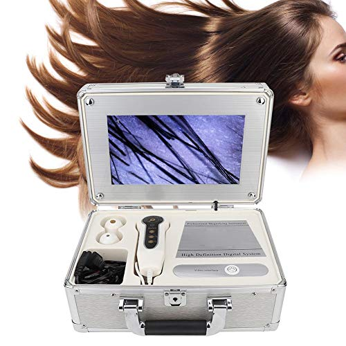 Haut-Haar-Detektor, 25,7 cm, Box-Typ, Kopfhaut, Haarfollikel, Gesichts-Detektor, digitale Haut, Gesundheitserkennung mit Freeze Frame Bild-Funktion 100–240 V (UK)