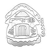 HELLOPOWT - Fustella da taglio a forma di casetta delle nevi, per scrapbooking, fai da te