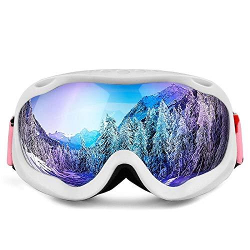 RongWang Gafas De Esquí De Invierno Unisex De Marco Completo Gafas De Esquí Gafas De Esquí con Protección UV Casco Compatible con Esquí Al Aire Libre (Color : White)