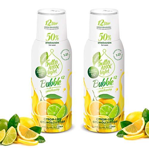 Light Low-Carb Fitness-Sirup Zitrone-Limette von Frutta Max light | ohne Zucker | mit Stevia | 50% Fruchtanteil 2erPack(2x500ml)