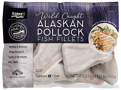 Trident Seafoods Alasakan Pollock Fillet Portion, 2.1 lbs (Frozen)