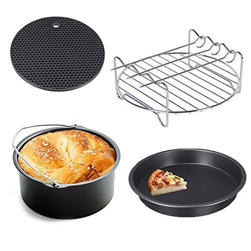 5-delige accessoires voor luchtfriteuse set 304 chips van roestvrij staal grill braden keuken bakken voor keukenaccessoires Cozyna