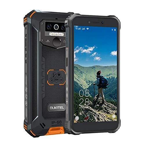 "OUKITEL WP5 Pro Android 10 Rugged Smartphone in Offerta, Dual 4G 5.5"" FHD+ Outdoor Smartphone 8000mAh Batteria,Robusto,4+64GB Impermeabile Antiurto,Triple Camera,4 LED Flash,GPS"
