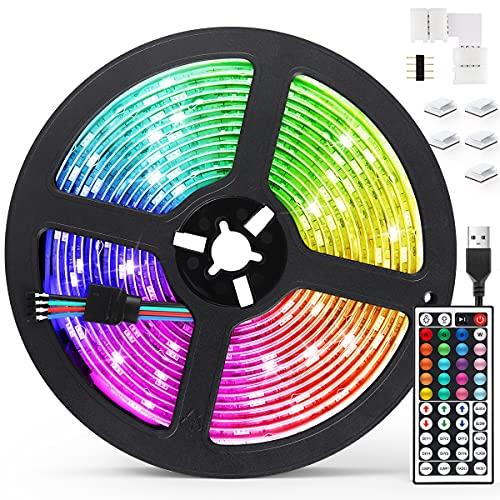 Tiras LED 5M, AGPTEK Luces LED 5050 RGB...